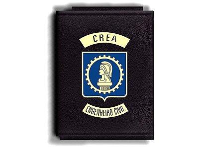 Carteira Premium Funcional Personalizada com logo do CREA - Engenheiro Civil