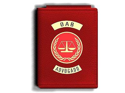 Carteira Premium Funcional Personalizada com Brasões para Advogado