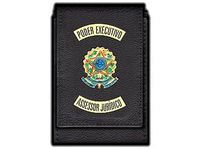Carteira  Funcional Personalizada com Brasões e com Porta Documentos para Assessor Jurídico