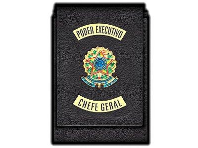 Carteira  Funcional Personalizada com Brasões e com Porta Documentos para Chefe Geral