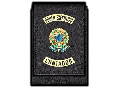 Carteira  Funcional Personalizada com Brasões e com Porta Documentos para Contador