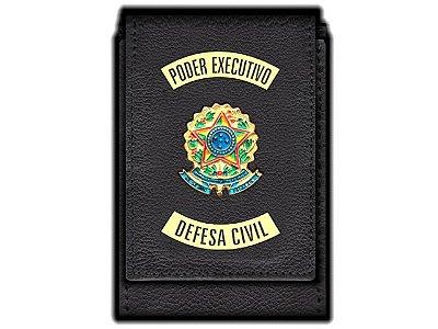 Carteira Funcional Personalizada Standart Plus do Poder Executivo com Brasões para Defesa Civil
