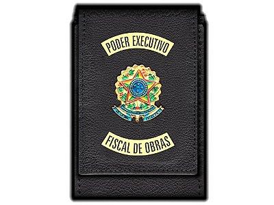 Carteira Standart Plus Funcional Personalizada do Poder Executivo com Brasões para Fiscal de Obras