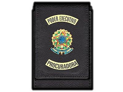 Carteira Standart Plus Funcional Personalizada do Poder Executivo com Brasões para Procuradora