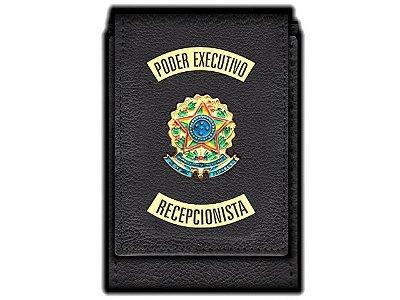 Carteira Standart Plus Funcional Personalizada do Poder Executivo com Brasões para Recepcionista