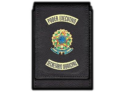Carteira Standart Plus Funcional Personalizada do Poder Executivo com Brasões para Secretário Municipal