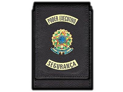 Carteira Standart Plus Funcional Personalizada do Poder Executivo com Brasões para Segurança