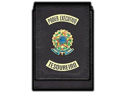 Carteira Standart Plus Funcional Personalizada do Poder Executivo com Brasões para Tesoureiro