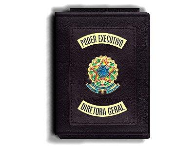 Carteira Premium Funcional Personalizada do Poder Executivo com Brasões para Diretora Geral