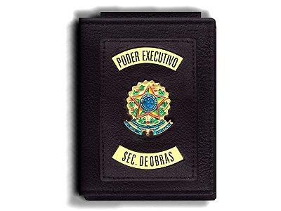 Carteira Premium Funcional Personalizada do Poder Executivo com Brasões para Secretário de Obras