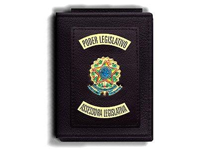 Carteira Premium Funcional Personalizada do Poder Legislativo com Brasões para Assessora Legislativa