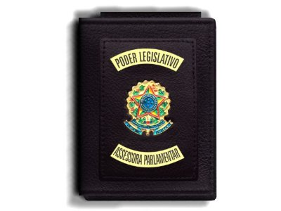 Carteira Premium Funcional Personalizada do Poder Legislativo com Brasões para Assessora Parlamentar
