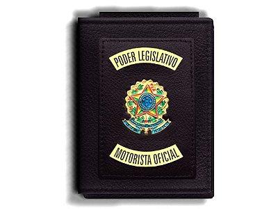 Carteira Premium Funcional Personalizada do Poder Legislativo com Brasões para Motorista Oficial