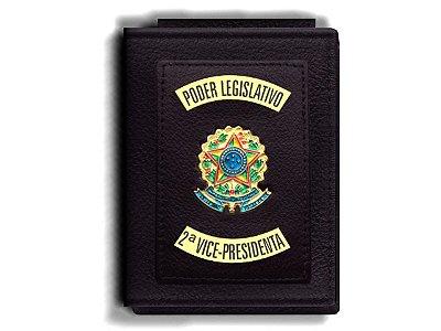 Carteira Premium Funcional Personalizada do Poder Legislativo com Brasões para Segunda Vice-Presidenta