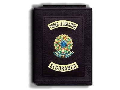 Carteira Premium Funcional Personalizada do Poder Legislativo com Brasões para Segurança