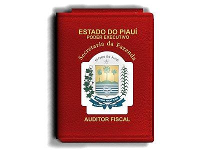 Carteira Premium Funcional Personalizada com Brasão do Piauí - Secretaría da Fazenda - Auditor Fiscal