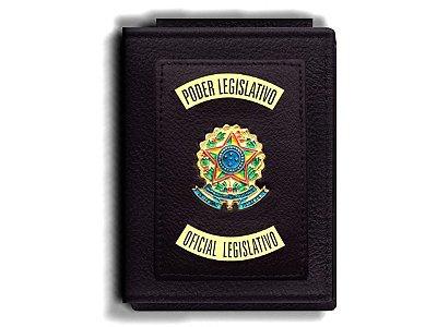 Carteira Premium Funcional Personalizada do Poder Legislativo para Oficial Legislativo