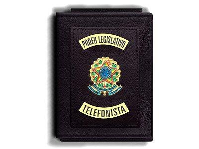 Carteira Premium Funcional Personalizada do Poder Legislativo com Brasões para Telefonista