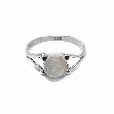Anel Indiano de Prata 925 com Pedra da Lua .