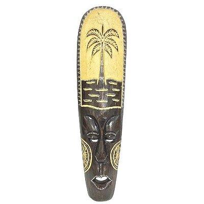 Máscara de madeira Balinesa 50 cm Palmeira