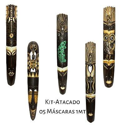 Kit Atacado 05 Máscaras Bali 1Metro (01 CADA MODELO)