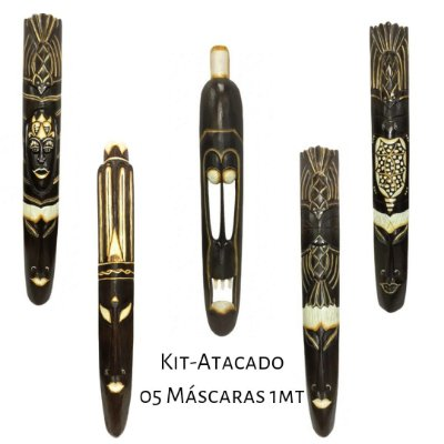 Kit Atacado 05 Máscaras Bali 1Metro (01 CADA MODELO).