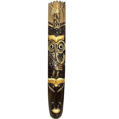 Máscara de Madeira ètnica Bali - Coruja 1 metro