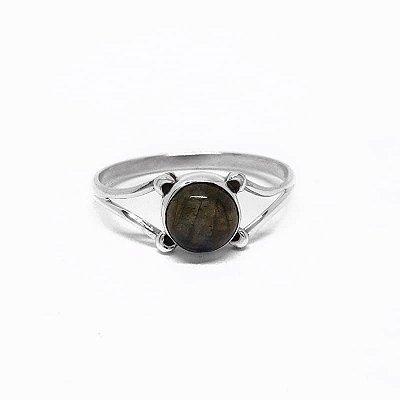 Anel de Prata 925 Indiano com Pedra Labradorita