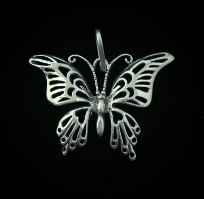Maravilhoso Pingente Borboleta em Prata Bali925