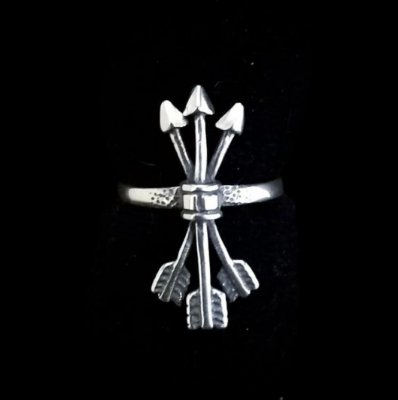 Anel Flechas em Prata 925