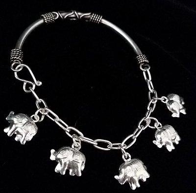 Pulseira Elefante sem Prata Bali925