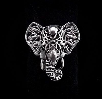 Anel em  Prata bali 925 Elefante