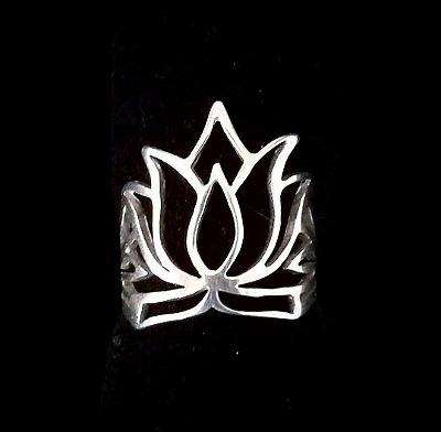 Anel em Prata Bali 925 Flor de Lotus
