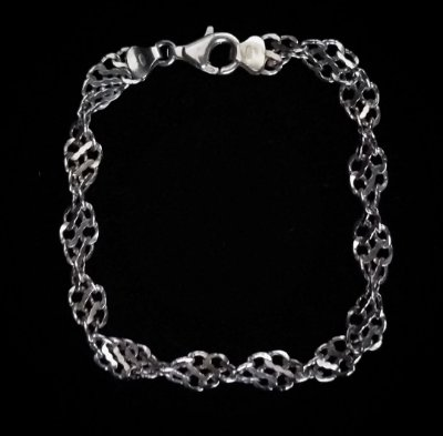 Pulseira prata orcida