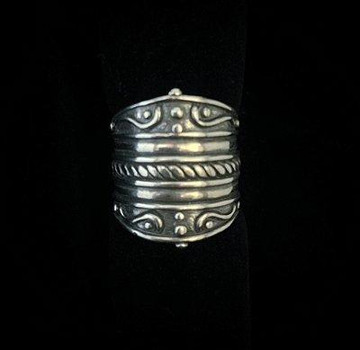 Anel Prata 925 Bali estilo Boho