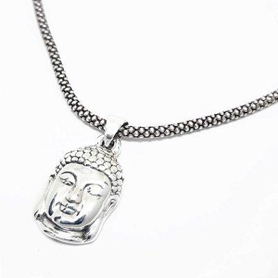 Pingente Prata Bali 925 Buda
