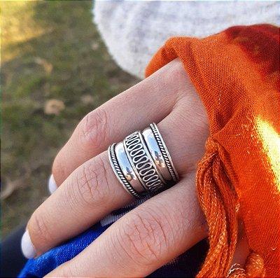 Anel de Prata Bali 925 Feito a Mão