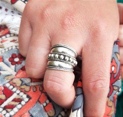 Anel Prata Bali 925 Feito a Mão (MADE IN BALI  INDONÉSIA)