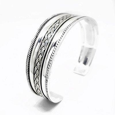 Bracelete de Prata Bali 925  Feito a Mão