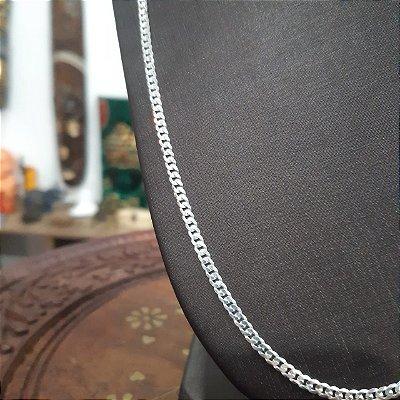 Corrente Prata 925 Italaina Grumet 1x1 3mm x 60 cm 7 gr