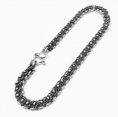 Pulseira Prata 925 Bali Pikun 19cm x 4,08 mm x 10 gr