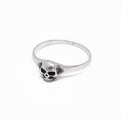 Anel Prata 925 - caveira - Pequeno