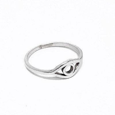 Anel Prata - 925 - Olho Grego