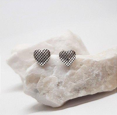 Brinco Prata Bali 925 Coração