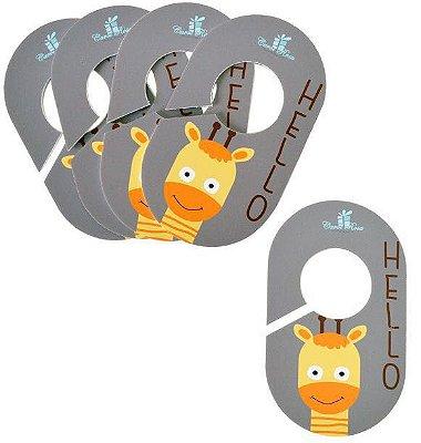 Divisores de Cabides (Kit c/ 5 peças) - Girafa Cinza