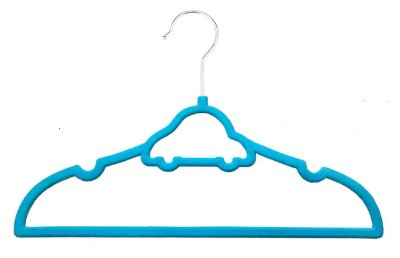 Cabide Infantil Carrinho Azul - Kit c/ 20 pçs
