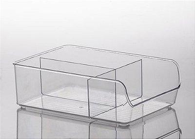 884 - Organizador Diamond com Divisórias Cristal | 28X18X 9CM