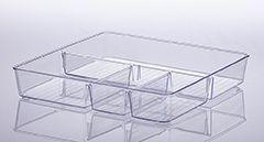 906 - Organizador com Divisória Cristal | 31X31X5CM