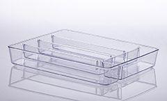 907 - Organizador com Divisória Cristal | 36X28X5CM