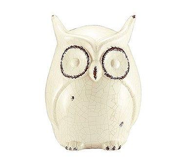 Coruja Ceramica Decorativa